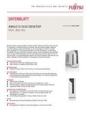 Datenblatt AMILO Desktop Si 3535 - Fujitsu