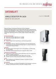 Datenblatt AMILO Desktop Pa 3630 - Fujitsu