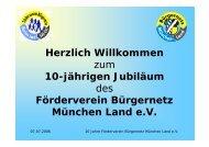 10 Jahre Bürgernetz - Förderverein Bürgernetz München-Land