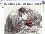 Die Arteria radialis als Bypassconduit (2,1 MB - Klinik für Herz- und ...