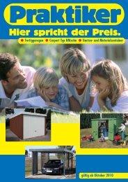 Fertiggaragen Carport Typ BMzehn Garten- und ... - Praktiker