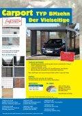 Fertiggaragen Carport Typ BMzehn Garten- und ... - Praktiker - Page 4