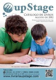 Clique para fazer o download do catálogo em - Livraria UpStage