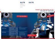 RObOT DE frAISAGE KA-TE 150/300 ET 250/600