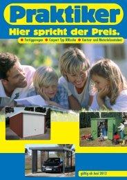 PDF Katalog von Fertiggaragen und Gartencontainer ... - Praktiker