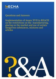 Questions and answers on restrictions - ECHA - Europa