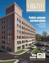 Public-private partnerships - the Virginia Municipal League