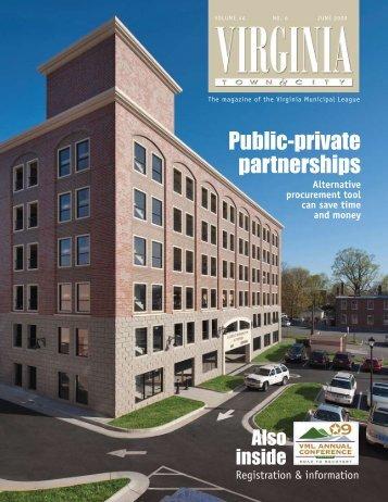 Public-private partnerships - the Virginia Municipal League