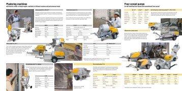Plastering machines Floor screed pumps - Putzmeister Shotcrete ...