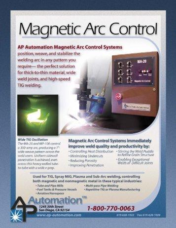 Magnetic Arc Control Flyer - AP Automation