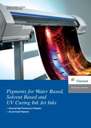 Pigments for Water Based, Solvent Based and UV Curing Ink Jet Inks