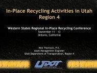 Utah DOT Overview - Kirk Thornock.pdf - Pavementvideo.org