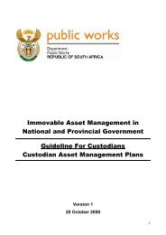 Immovable Asset Planning - Construction Industry Development Board
