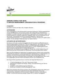(Senior) Consultant (m/w) IT Service Management (Organisation