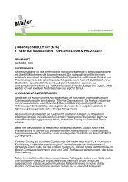 (Junior) Consultant (m/w) IT Service Management (Organisation