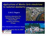 Applications of Monte Carlo simulations to radiation dosimetry