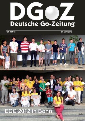 EGC 2012 in Bonn - Deutscher Go-Bund eV