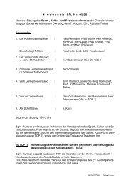Niederschrift 07.08.2001 - Gemeinde Mühltal