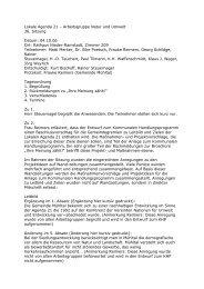 Lokale Agenda 21 - Gemeinde Mühltal