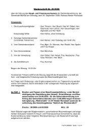 Niederschrift 29.09.2009 - Gemeinde Mühltal