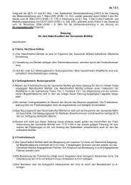 Az. 1.6.3. Satzung für den Naturfriedhof der Gemeinde Mühltal