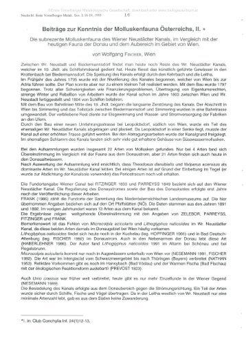 Beiträge zur Kenntnis der Molluskenfauna Österreichs, II. *