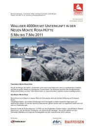 walliser 4000er mit unterkunft in der neuen monte rosa hütte 5.mai ...