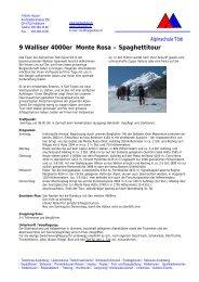 9 Walliser 4000er Monte Rosa – Spaghettitour