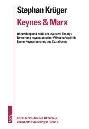 Stephan Krüger Keynes & Marx - VSA Verlag