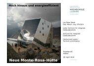 Neue Monte-Rosa-Hütte - Projekta AG