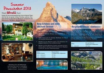 Sommer Pauschalen 2013 - Hotel Silvana