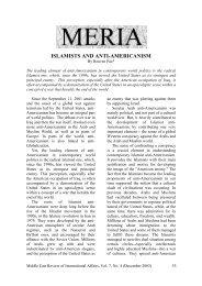 ISLAMISTS AND ANTI-AMERICANISM - GLORIA Center