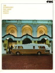 October 1973 4 page brochure - FMC Motorcoach
