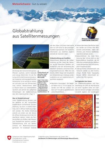 Globalstrahlung aus Satellitenmessungen - MeteoSchweiz
