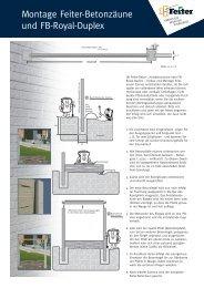 Montageanleitung Dekorzäune
