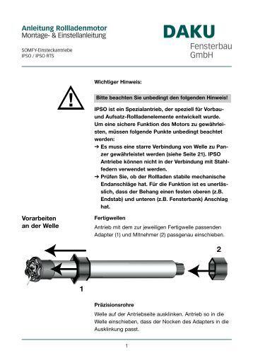 Rollladenmotoren magazine for Daku fenster