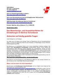 Info Auswahlverfahren, Stand Februar 2013 (pdf / 257 ... - GEW - Berlin
