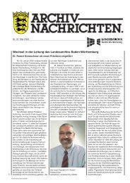 Archivnachrichten Nr. 32 - Landesarchiv Baden Württemberg