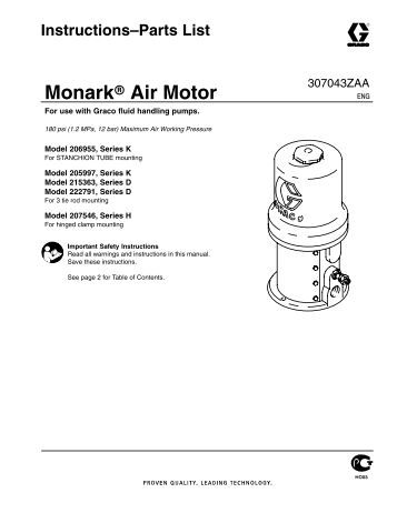 313392f Merkur Pump Assembly Instructions Parts: english motors inc