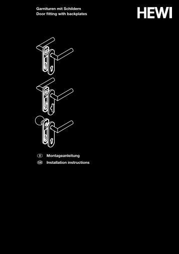 Montageanleitung Installation instructions Garnituren mit ... - HEWI
