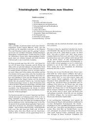 Trinitätsphysik - Vom Wissen zum Glauben - Professorenforum