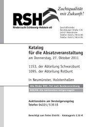 Katalog für die Absatzveranstaltung - Rinderzucht Schleswig ...