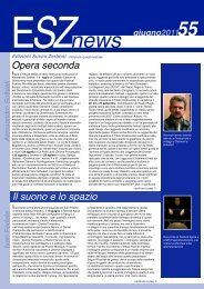 ESZ NEWS N. 55_giugno 2011.pdf - Edizioni Suvini Zerboni