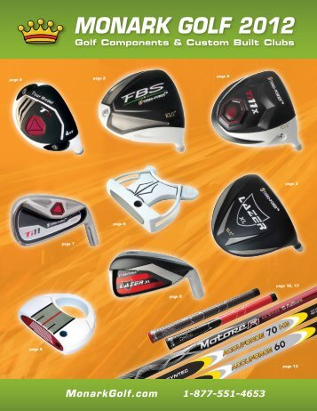 Monark Golf 2012 (4.7 MB | pdf file) - Monark Golf Supply, Inc.