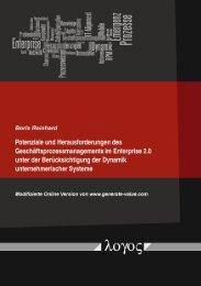 BPM im Enterprise 2.0 unter Dynamik - Generate Value