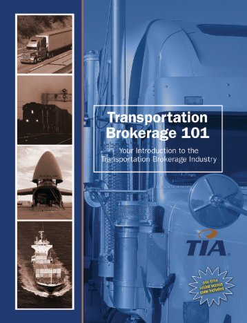 TIA: Transportation Brokerage 101 Web Sampler