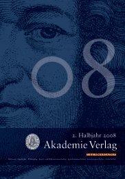 2. Halbjahr 2008 - Oldenbourg Verlag
