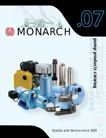 p u m p p ro d u c ts c a ta l MONARCH - Pumps & Pressure Inc.