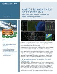 AN/BYG-1 Submarine Tactical Control System (TCS) - General ...