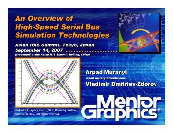 An Overview of High-Speed Serial Bus Simulation Technologies An ...
